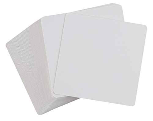 Blank Index Card - 400-Piece White Cardstock, Flash Cards, Note Cards, Perfect for DIY Game Card, Study, School, Language Learning, Memory Game, 420 GSM, 3.125 x 3.125 Inches