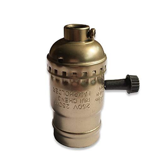 Lamp Base - 4PackVintage Light Socket E26 E27 Industrial Light Socket Metal Shell with Knob ON/OFF Vintage Edison Pendant Lamp Holder Socket - (Color: Blue, Base Type: E26)