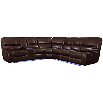Amazon.com: ACME Furniture Saul Sectional Sofa with Power ...