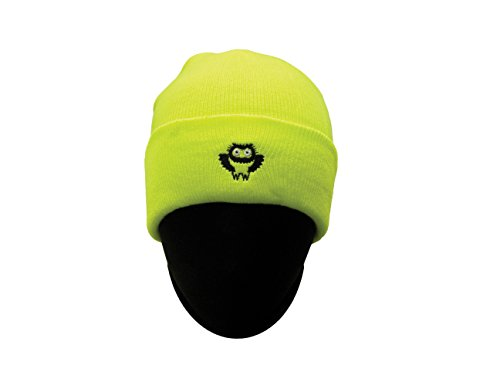 Safety Depot High Visibility Knitted Cap (Beanie) with Owl Logo (Lime) Logo Skull Cap Beanie