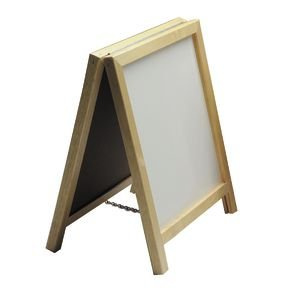Table Top A-Frame Free Standing Whiteboard,1' H x 1' W