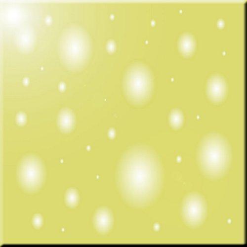 Rikki Knight Olive Bubbles Design Ceramic Art Tile 6 x 6