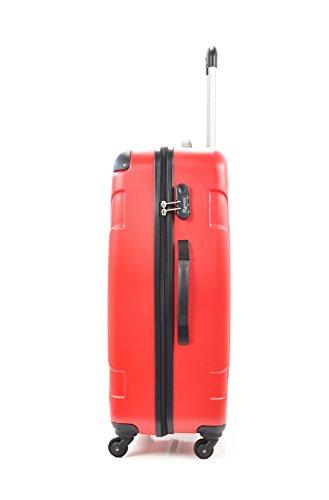 Antonelle Set de 3 trolleys rígidos Passy Rojo Rojo