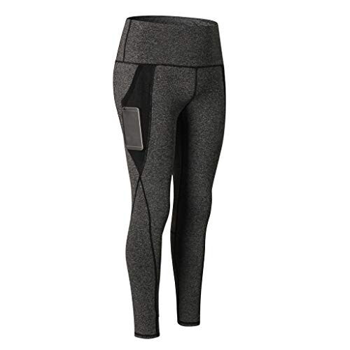 c59ef5850478d NUWFOR Women's Fashion Workout Leggings Fitness Sports Running Yoga Athletic  Pants(Dark Gray,M
