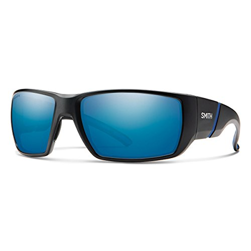 Smith Transfer XL ChromaPop+ Polarized Sunglasses, Matte Black, Blue Mirror - Sunglases Smith