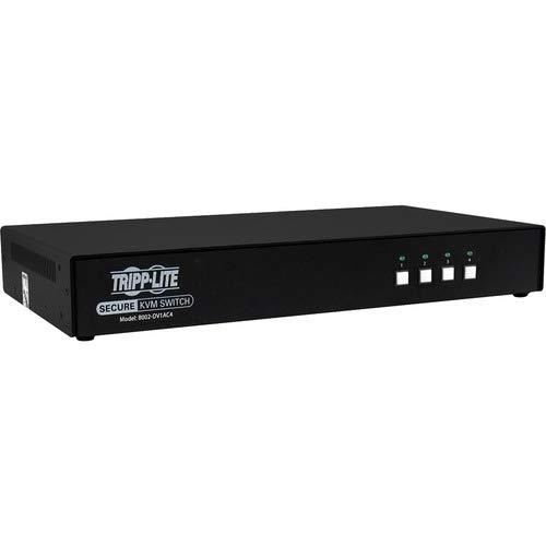 Tripp Lite セキュアKVMスイッチ 4ポート DVI + オーディオNIAP PP3.0認定 CAC付き - 4つのコンピュータ - 1つのローカルユーザー - 2560 x 1600-11 x USB - 5 x DVI - TAA準拠 B07PF49SCC