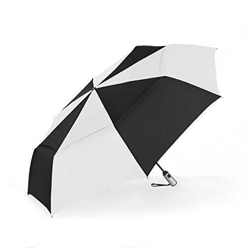 aea0354e0a36 ShedRain Vented Auto Open & Auto Close Jumbo Umbrella, Black/White, One-Size
