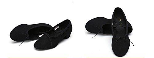 gimnasia Zapatos mujeres ballet blandas de suelas zapatos 40 34 para XW de de Zapatos adultos para con maestros Zapatos black mujeres para lona y WX 58wqU1Z
