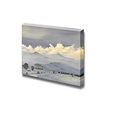 Beautiful Sierra Nevada Mountain Range Landscape in Oil Painting Style - Canvas Art Wall Art - 24