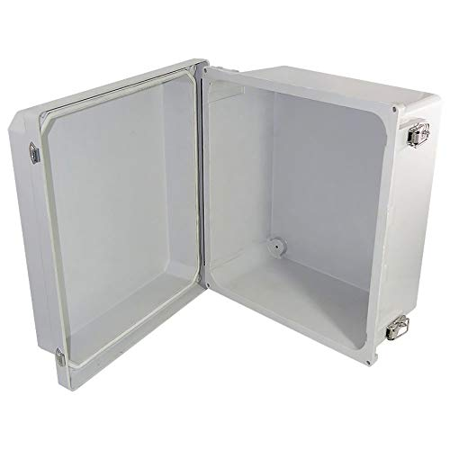 Altelix 14x12x8 FRP Fiberglass NEMA 4X Box Weatherproof Enclosure with Hinged Lid & Stainless Steel Latches by Altelix (Image #3)