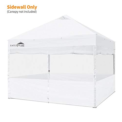 Zipper Entry - EAGLE PEAK Full Wrap Sidewall for Commercial Canopy Features Mesh or Shade-Wall Option with Zipper Entry (White)