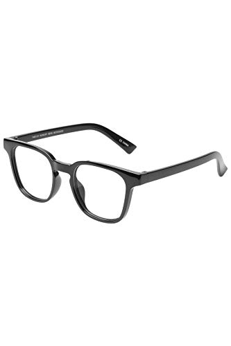 The Book Club Twelve Hungry Bens Blue Light Filter Reading Glasses (+1.5 Strength) Black Marker 1.50 Reader ()