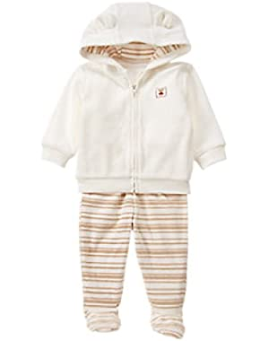 Fleece Hoodie 2-Piece Set Size 0-3 months