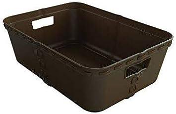 Votre Salle de Bain ou Votre Bureau 28.5 x 20.3 x 9 CM Paniers en Osier 3-Pack bacs de rangements id/éal pour Les /étag/ères ou Les tiroires Life Story Corbeille Plastique
