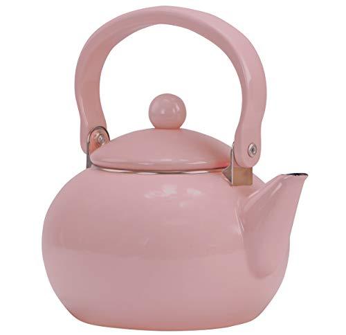 Reston Lloyd Enamel Teakettle Non-Whistling, 2 Quart, Pink