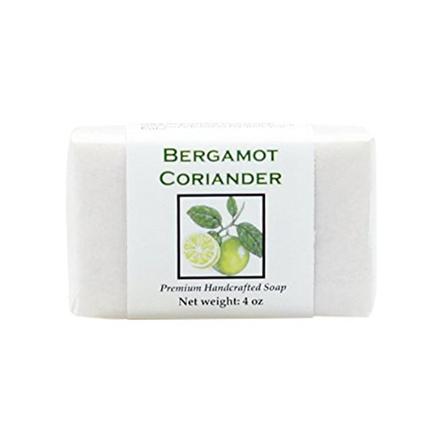 MoonDance Soaps & More Bergamot Coriander Soap - Handmade Soap for Softer Skin with Cocoa Butter, Shea Butter, Sweet Almond, Fragrance and Essential Oils  (One Bar, 4 oz)