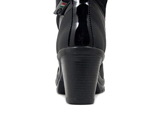Gomma Pelliccia Stivale Tacco s 7cm In E Con Tessuto Nero Lapin 1214727 Suola N Idrorepellente i Donna SSOrq81A