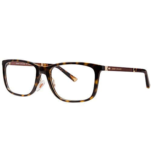 Jimmy orange eyeglasses clear lenses Tr90 spectacle frame jo514 (leopard, - Free Frames Spectacle