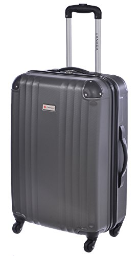 Canada 24 inch Charcoal Lightweight Hard Side Wheeled Suitcase (28 Inch Wheeled Suitcase)