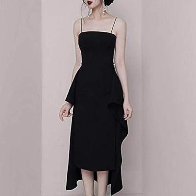 QUNLIANYI Vestidos Largos Mujer Vestido Elegante Vestido Negro ...