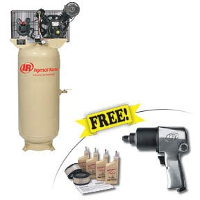 Ingersoll Rand Compressors 2340L5-VTS Electric-Driven Two-Stage-Standard , 5HP With Free Air Impact Wrench And Start Up