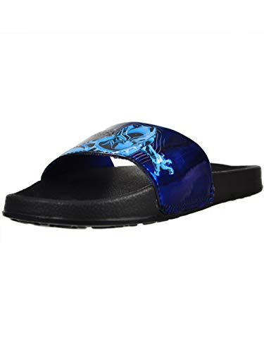 Favorite Characters Black Panther Slide Sandal Black/Blue Little Kid (1 M US Little Kid)