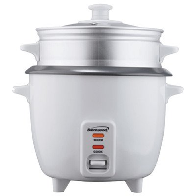 Brentwood TS-380S 10 Cup Rice Cooker with Steamer, Silver