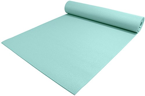 YogaAccessories 1/4   Extra Thick High Density Premium Sticky Yoga Mat for Exercise and Fitness - Soothing Sea