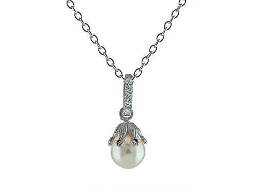 - Fronay Co .925 Sterling Silver Freshwater Cultured Rice Pearl Pendant Necklace