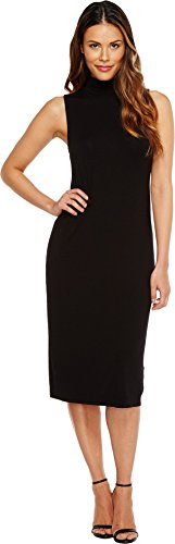 Splendid Women's Mock Neck Dress, Black, L