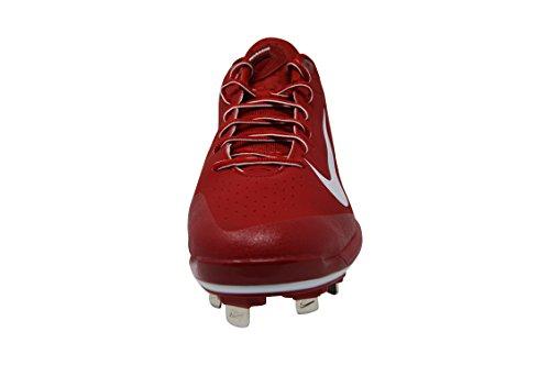 Nike Herren Huarache Pro Low Metal Baseballschuh Rot-Weiss