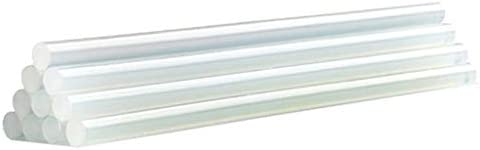 Minmin ホットメルト接着剤スティック、DIYプロセスプロジェクトとシールに使用される最も接着剤銃と互換性の直径7mmの11ミリメートル、 ミニ (Color : Transparent, Size : 7x200mm)