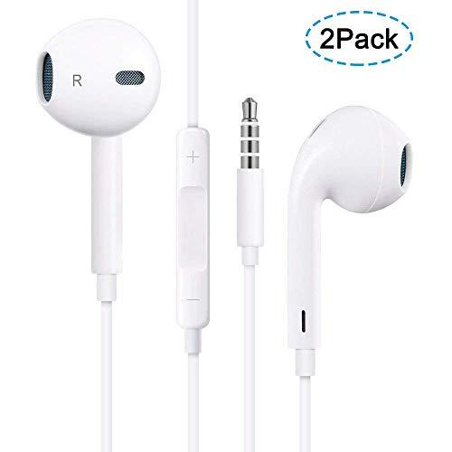 JAPS Earphone/Headphones, Earbuds HD Sound Bass Earphones Compatible Apple iPhone 6s/6 Plus/5s/5c/5/4s/SE iPad/iPod All 3.5mm Earbuds Devices