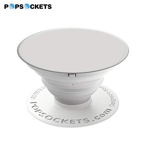 (PopSockets Wireless Collapsible Grip & Stand for Phones and Tablets - White)