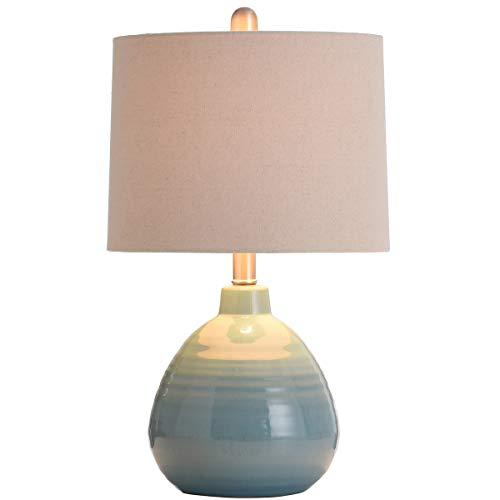 Stylecraft Ceramic Seaside Storm Blue 21-Inch One-Light Table Lamp