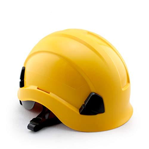 Casco rígido con Casco de Trabajo de Altura y Rescate de ABS con trinquete Ajustable, suspensión de 6 Puntos y protección...