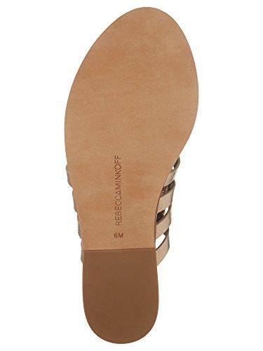 Women's Minkoff Distressed Sandals Metallic Gold Rebecca Evonne 1B0wxqOOWT