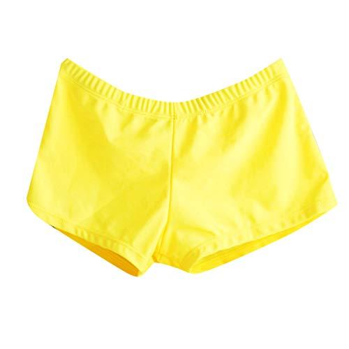 (Amofiny 2019Women's Fashion Swimwear Soild Push-Up Padded Bra Beach Bikini Set Swimsuit Beachwear Yellow)