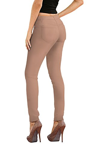 HyBrid & Company Womens Super Stretch Jeans-P26138SK-Khaki-7 ()