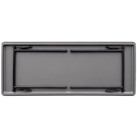 750 mm Height x 1220 mm Width x 610 mm Length-Grey Bolero GC594 ABS Folding Frame Rectangular Banquet Table Steel