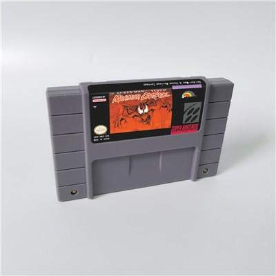 Game card - Game Cartridge 16 Bit SNES , Game Spider-Man & Venom Maximum Carnage - Action Game Card US Version English - Game Man Cartridge Spider