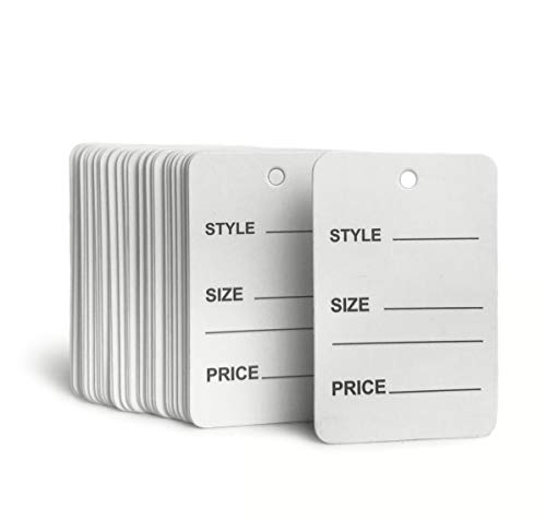 GILLRAJ MILAN White Unstrung Marking Tags Pack of 1000 Without String Writable Price Name Labels for Clothing Small Paper Hang Tags Size 1.90