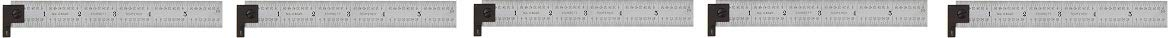 Starrett CH604R-6 6 2-Sided Steel Ruler with Hook (5-(Pack))