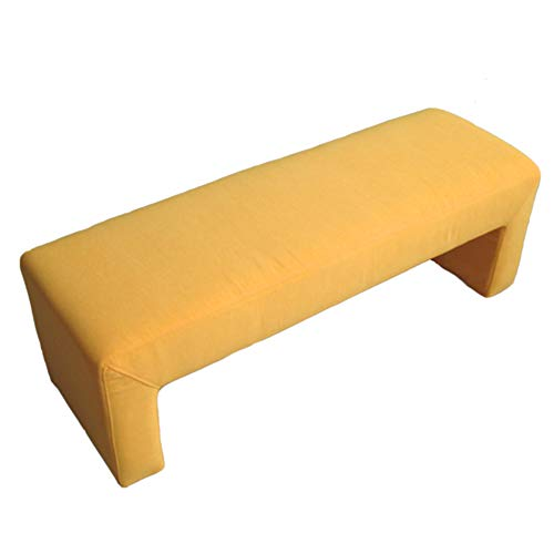 LJJL Stable Bench Cloth Lengthen Washable Sofa Stool/Solid Wood Reinforce Change Shoe Bench/Comfortable Breathable Footrest Stool/Clothing Store Hall Leisure Stool Sofa Footstool
