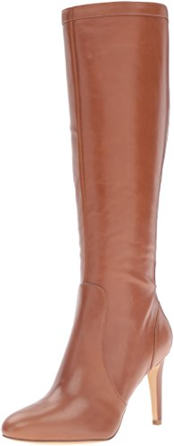 Nine West Women's Holdtight Leather Knee-High Boot, Cognac, 6.5 M US
