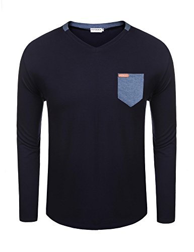 HOTOUCH Men's Workwear Midweight Jersey Pocket Long-Sleeve T
