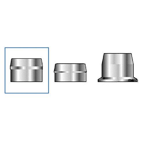 (QS-QUICK SHIP) Huck C6L 2LC-R12G Lockbolt Collar; 3/8 Inch (0.375 Inch), Standard FLNG Collar, Grade 2 Steel, Zinc CLR