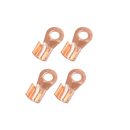 Sourcingmap 4pcs 300A Copper Ring Terminals Lug Battery Cable Connector: