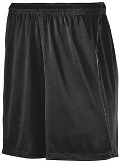 Augusta Sportswear Wicking Soccer Short with Piping - Black/Black - Small