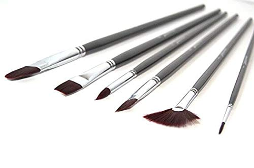 Synthetic Nylon Paintbrush Set- Wonderful for Acrylic Watercolor Face and Body Professional Painting Kit Shoe Paint…